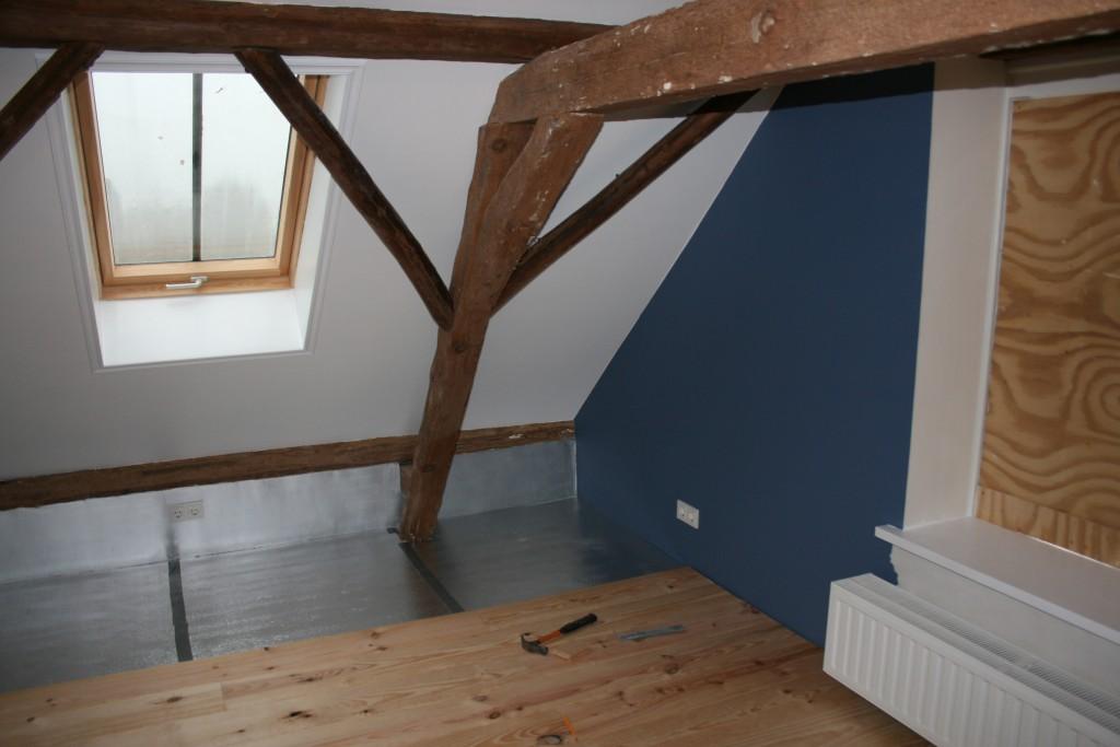 houten grenen vloer slaapkamer